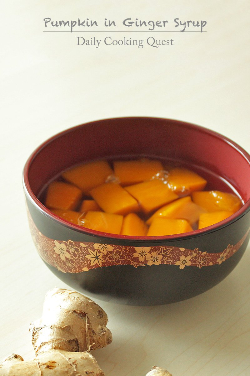 Pumpkin in Ginger Syrup