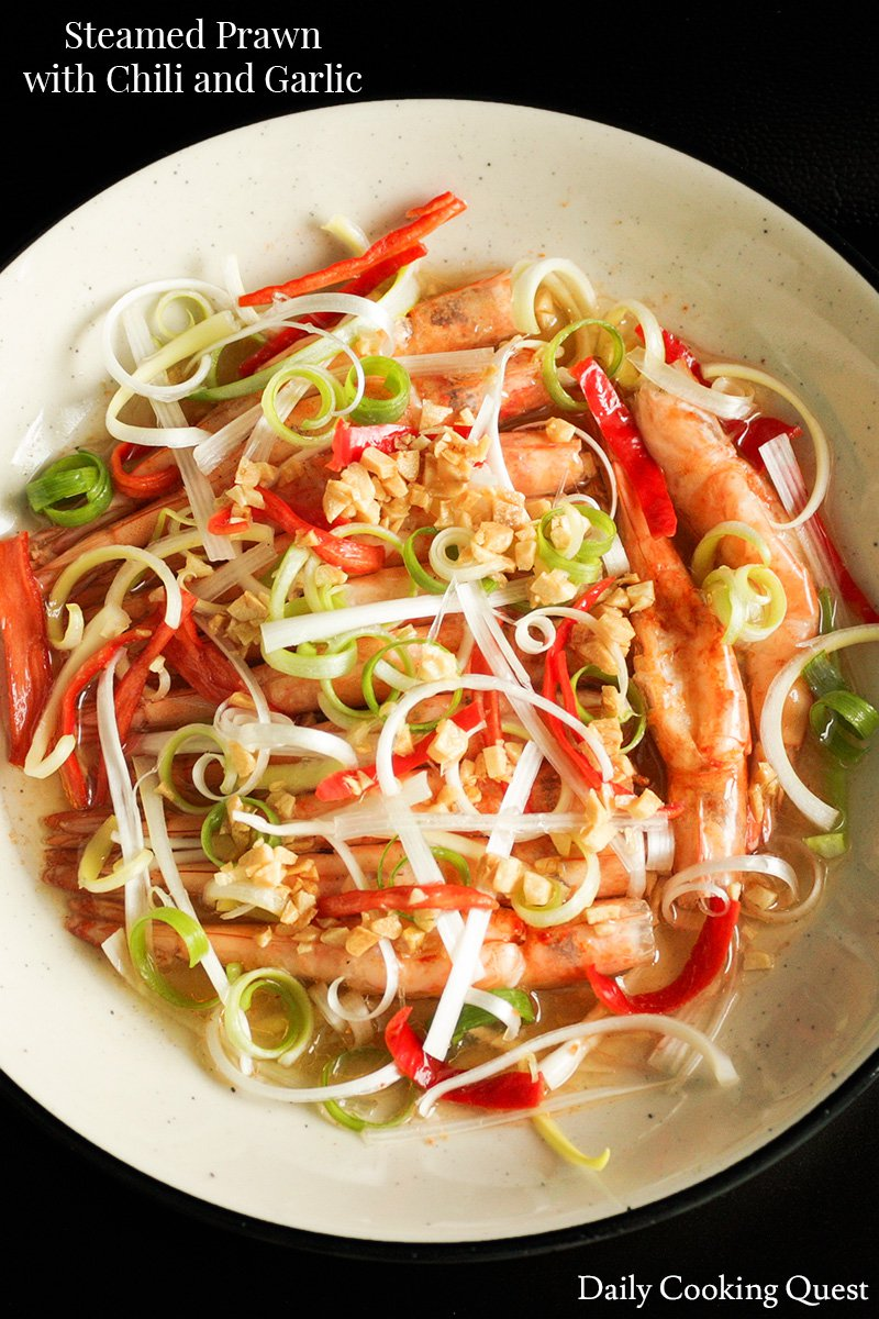 Steamed Prawn with Chili and Garlic
