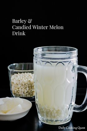Barley and Candied Winter Melon Drink