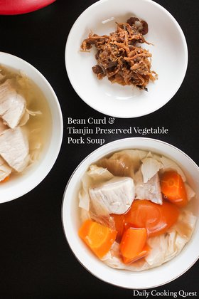 Bean Curd and Tianjin Preserved Vegetable Pork Soup