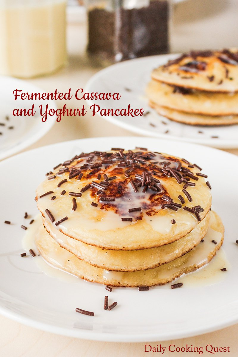 Fermented Cassava and Yoghurt Pancakes