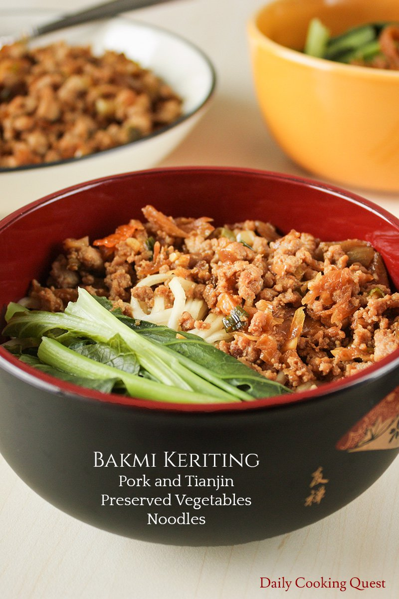 Bakmi Keriting - Pork and Tianjin Preserved Vegetables Noodles