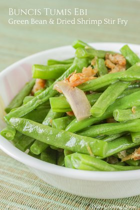 Buncis Tumis Ebi - Green Bean and Dried Shrimp Stir Fry
