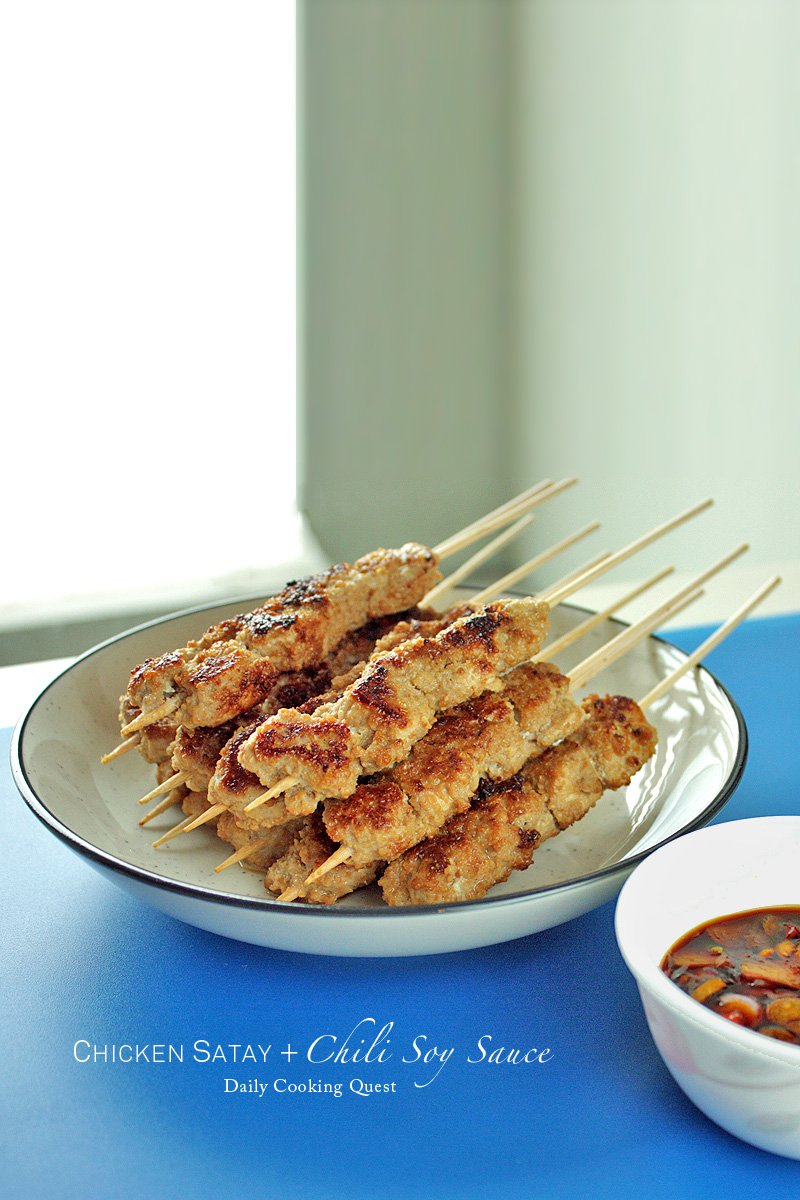 Chicken Satay with Chili Soy Sauce