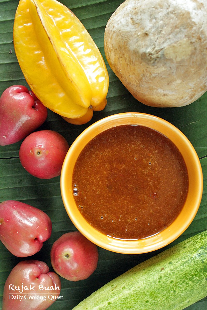 Rujak Buah - Fruit with Spicy Palm Sugar Sauce