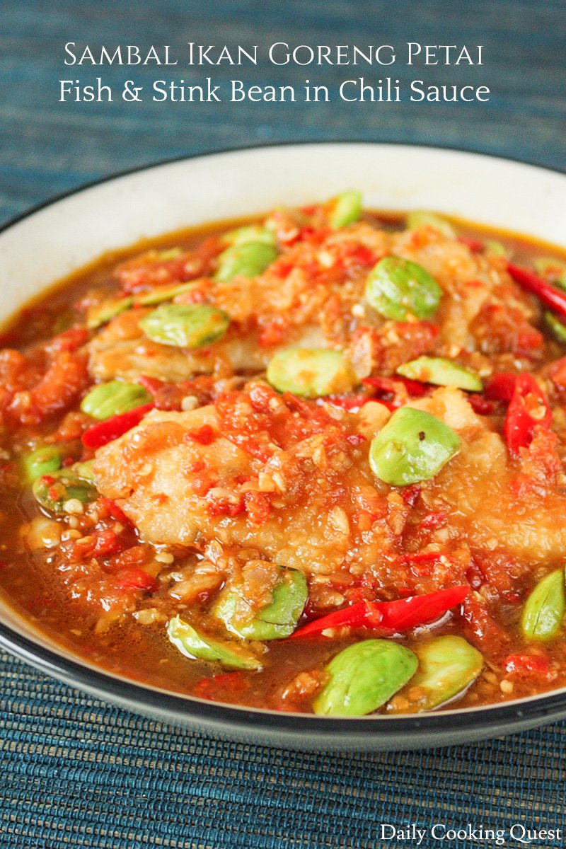 Sambal Ikan Goreng Petai - Fish and Stink Bean in Chili Sauce