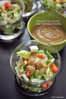 Sarada No Gomae - Salad with Sesame Dressing