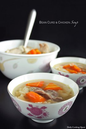 Bean Curd and Chicken Soup