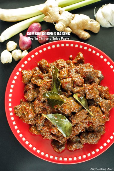Sambal Goreng Daging - Beef in Chili and Spice Paste