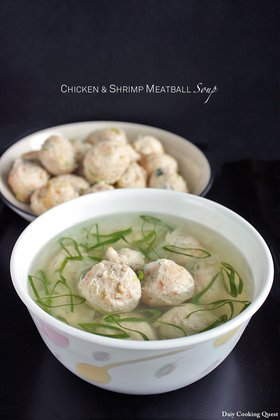 Chicken and Shrimp Meatball Soup
