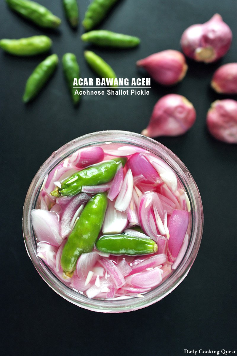 Acar Bawang Aceh - Acehnese Shallot Pickle