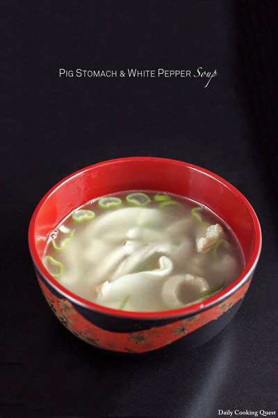Pig Stomach and White Pepper Soup