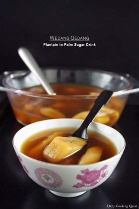Wedang Gedang - Plantain in Palm Sugar Drink