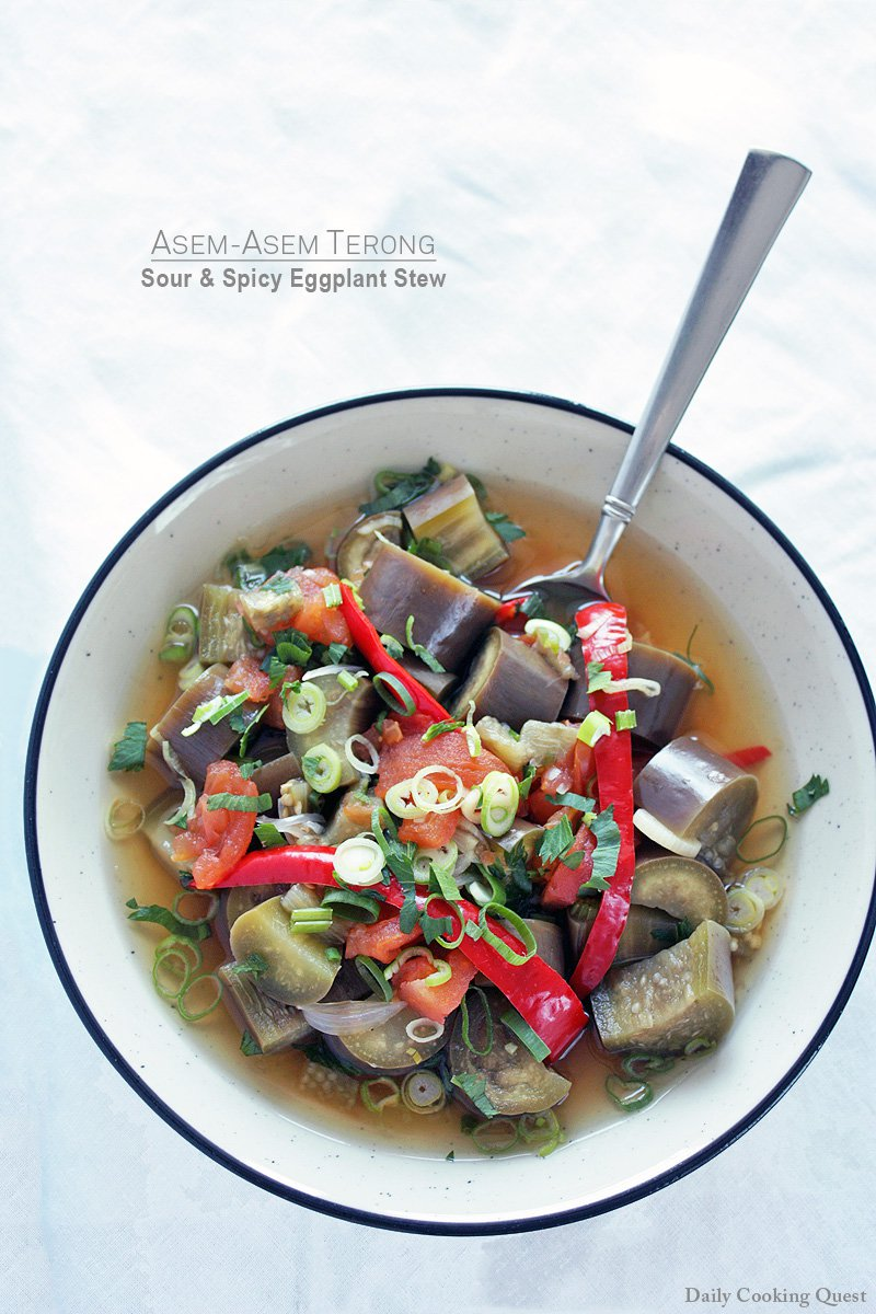Asem-Asem Terong - Sour and Spicy Eggplant Stew
