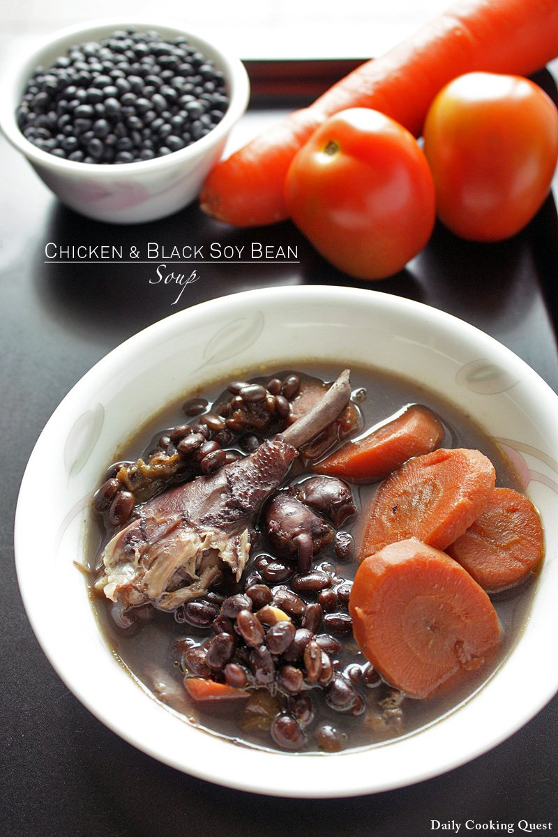 Chicken and Black Soy Bean Soup