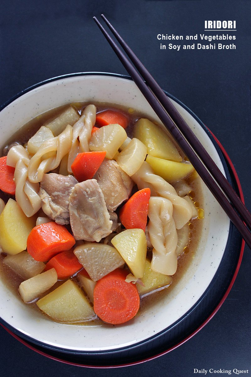 Iridori - Chicken and Vegetables in Soy and Dashi Broth