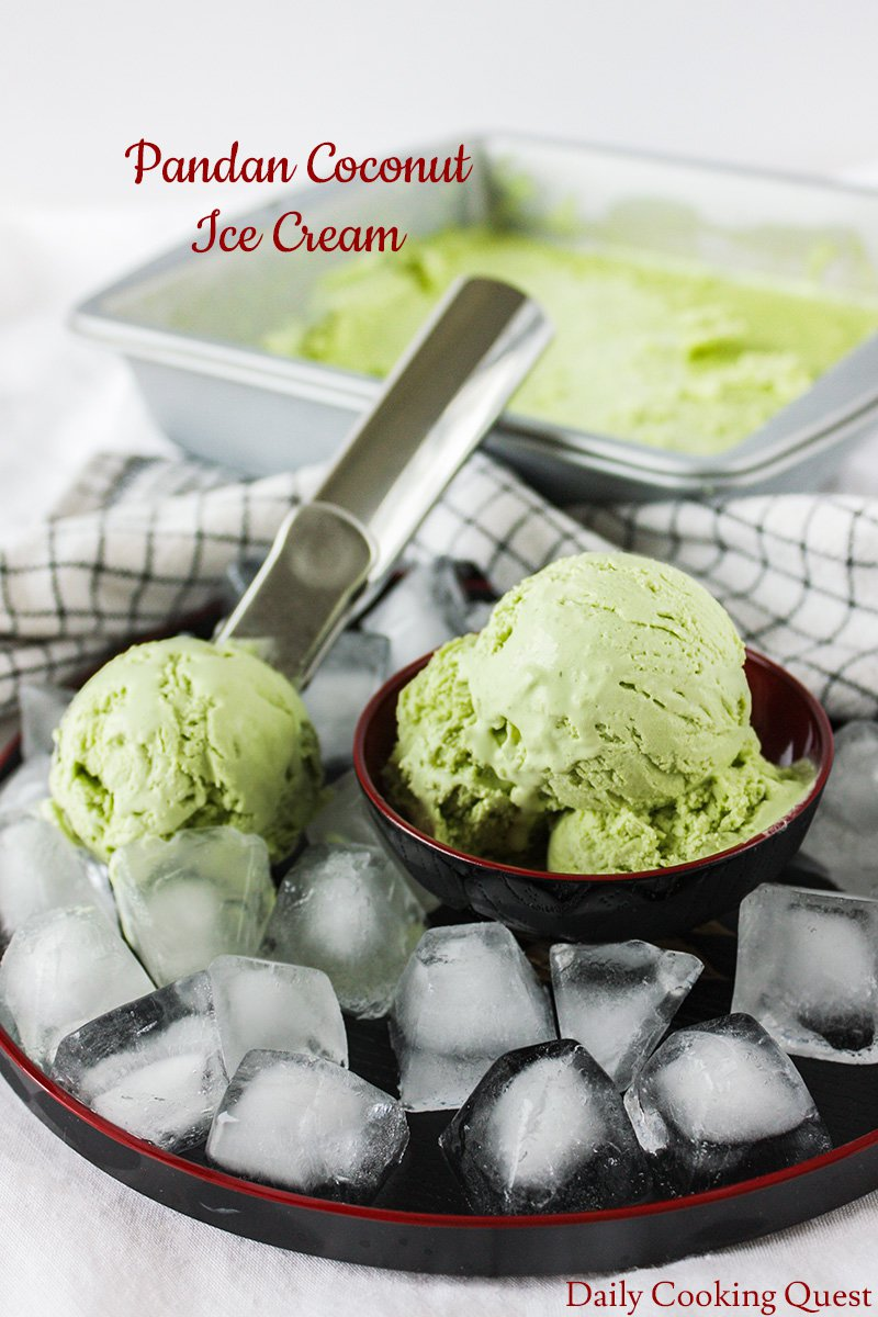 Pandan Coconut Ice Cream