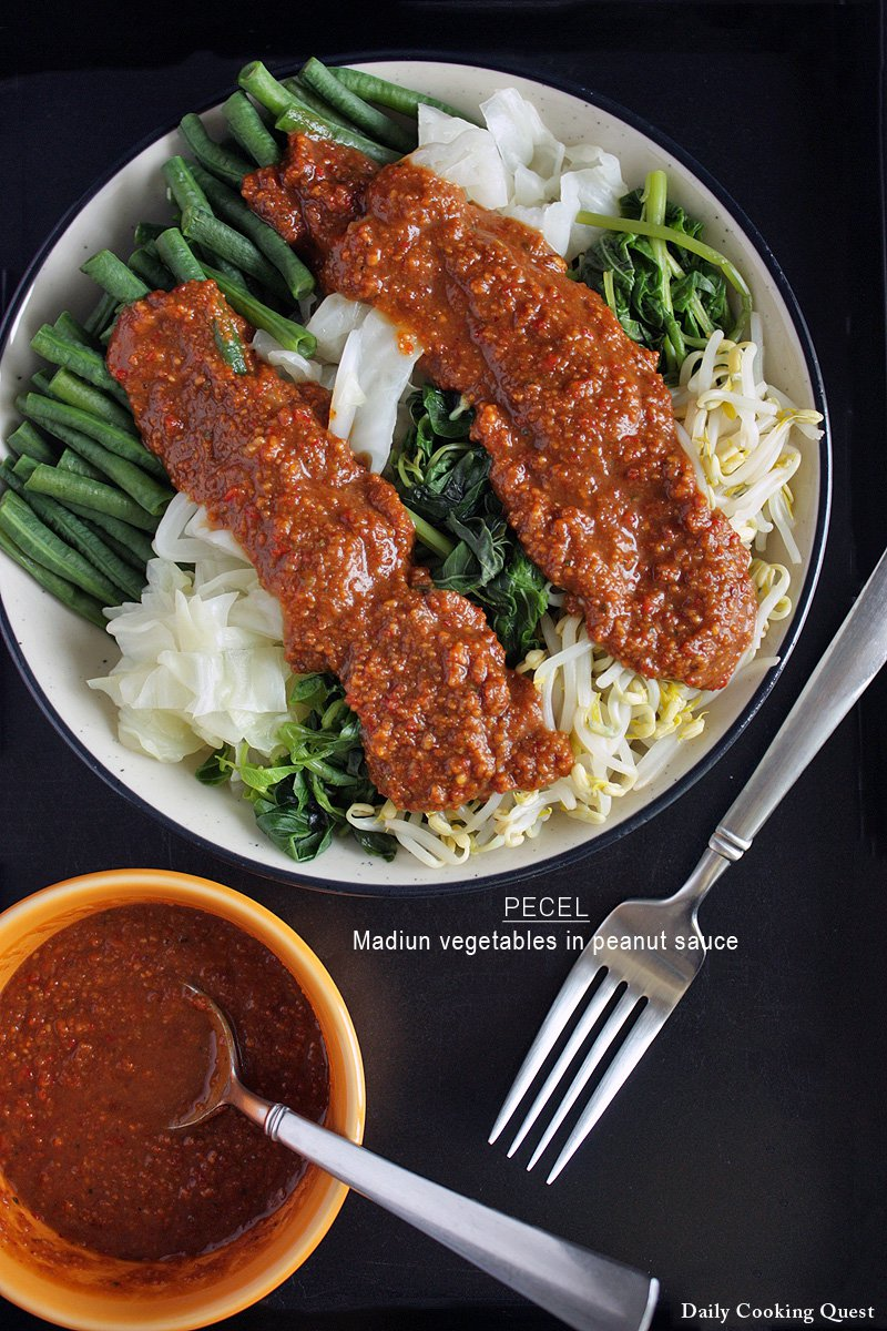 Pecel - Madiun Vegetables in Peanut Sauce