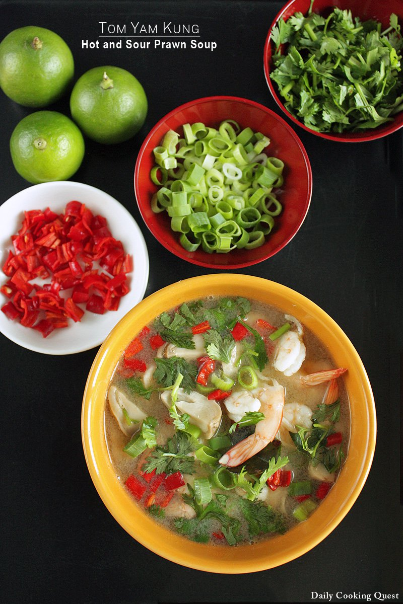 Tom Yam Kung - Hot and Sour Prawn Soup