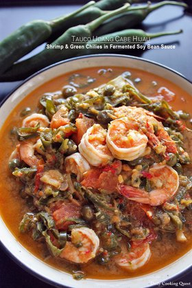 Tauco Udang Cabe Hijau - Shrimp and Green Chilies in Fermented Soy Bean Sauce