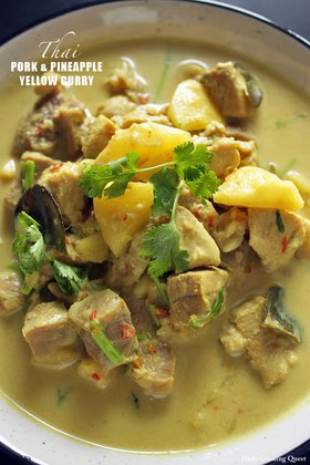 Thai Pork and Pineapple Yellow Curry