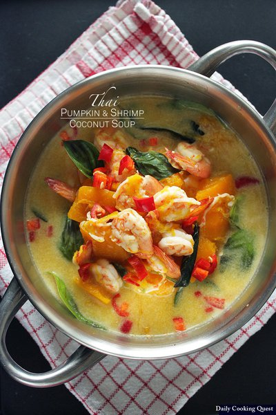 Thai Pumpkin and Shrimp Coconut Soup