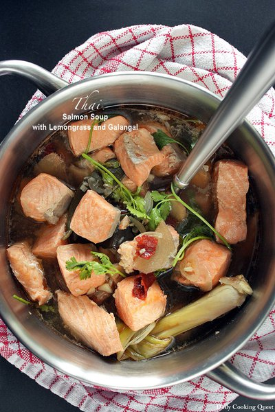 Thai Salmon Soup with Lemongrass and Galangal