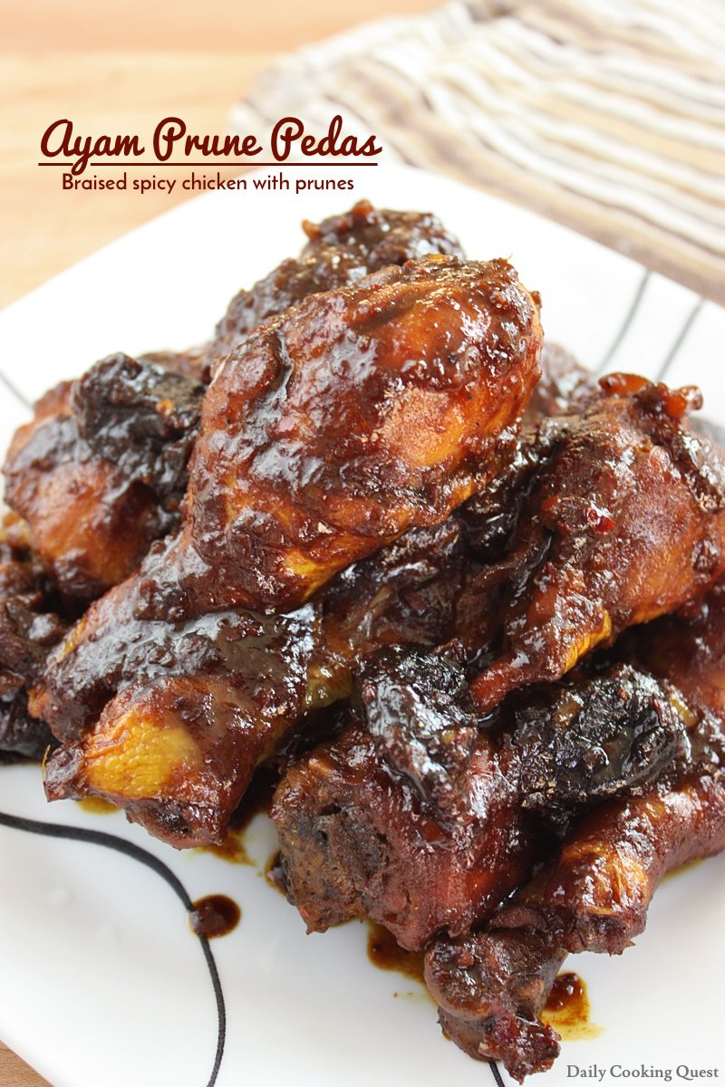 Ayam Prune Pedas - Braised Spicy Chicken with Prunes