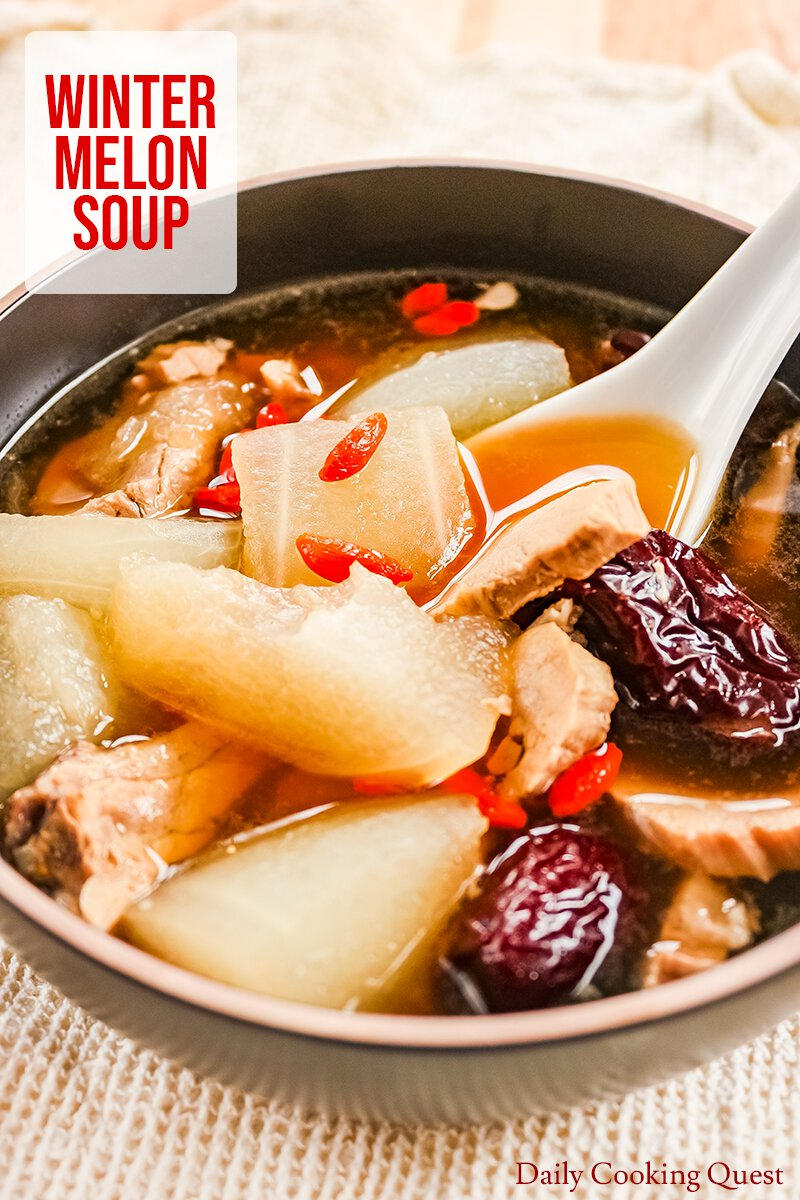 Chinese winter melon soup.