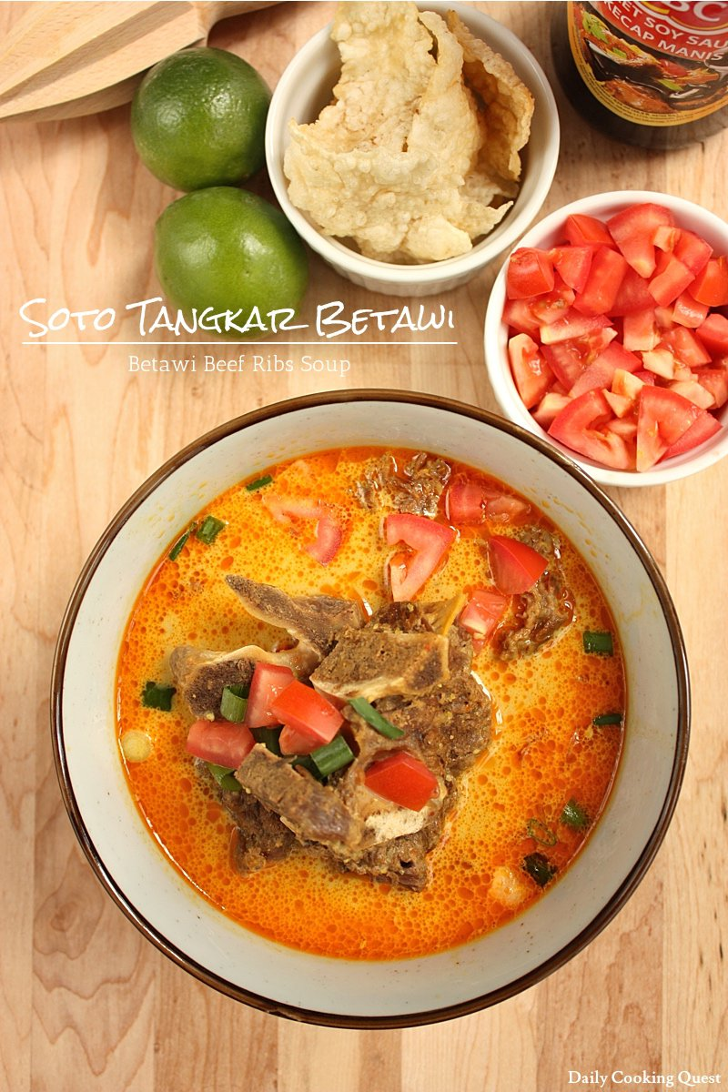 Soto Tangkar Betawi Betawi Beef Ribs Soup Daily Cooking Quest