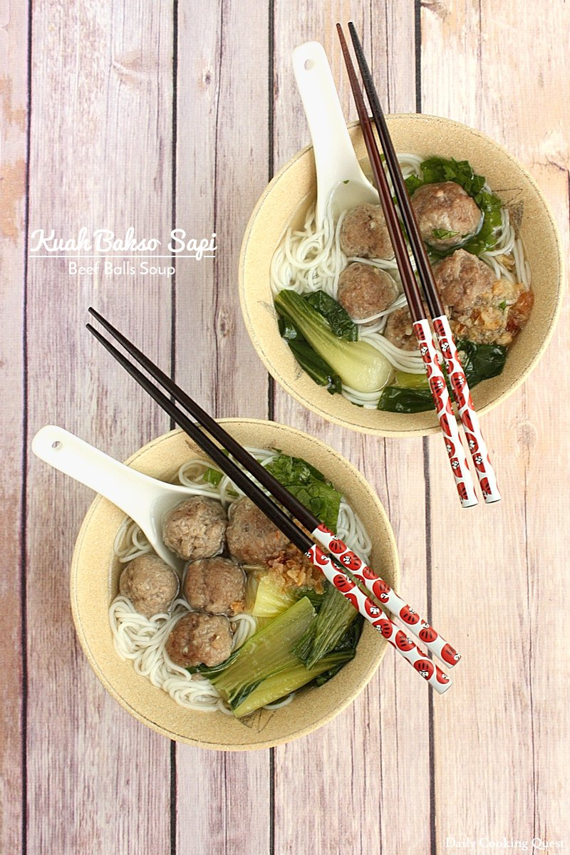 Kuah Bakso Sapi - Beef Balls Soup Recipe | Daily Cooking Quest