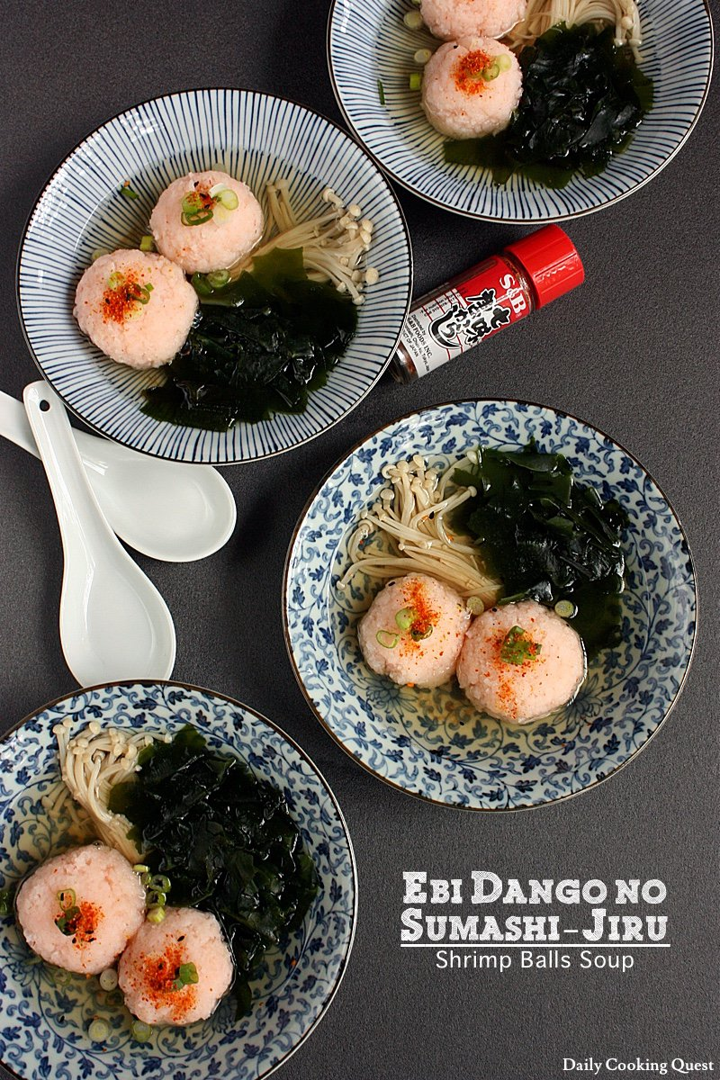 Ebi Dango no Sumashi-Jiru - Shrimp Balls Soup