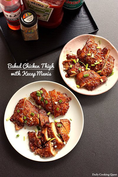 Baked Chicken Thigh with Kecap Manis