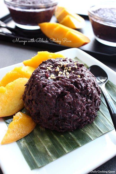 Mango with Black Sticky Rice