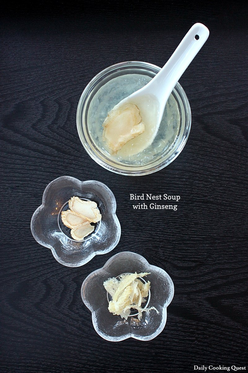 Bird Nest Soup with Gingseng