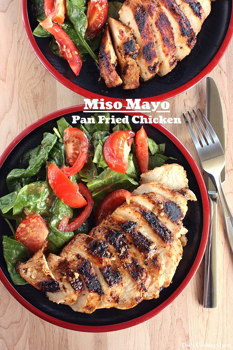 Miso Mayo Pan Fried Chicken