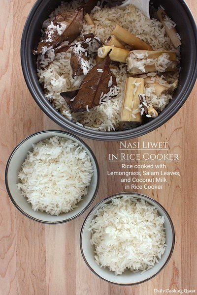 Nasi Liwet in Rice Cooker