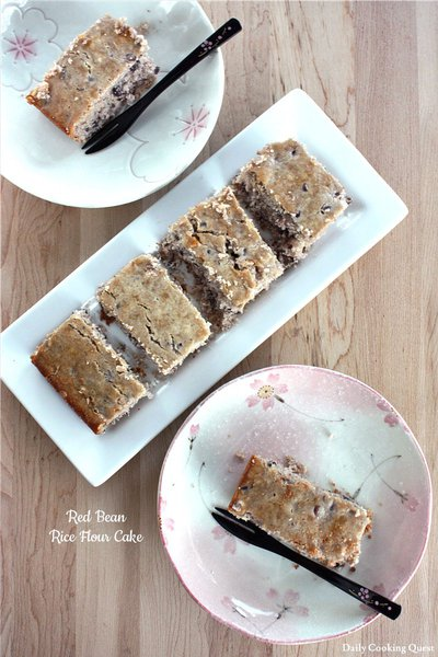 Red Bean Rice Flour Cake