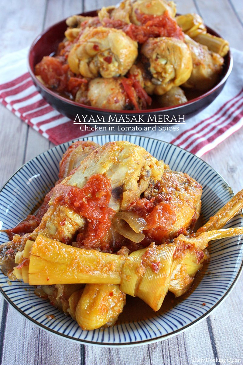 Ayam Masak Merah - Chicken in Tomato and Spices