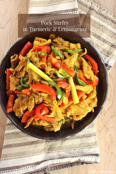 Pork Stir Fry in Turmeric and Lemongrass