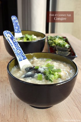 Fish and Century Egg Congee