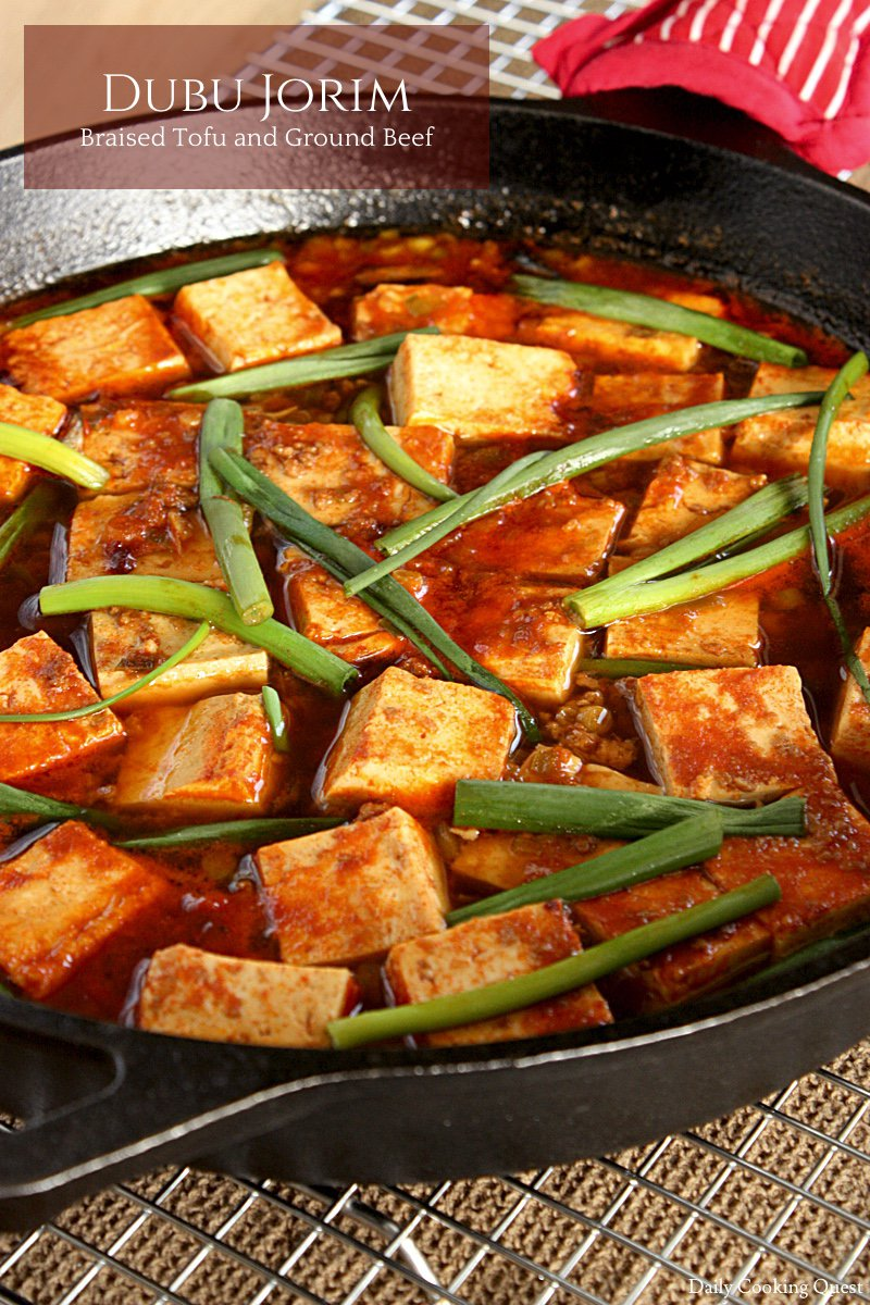 Dubu Jorim - Braised Tofu and Ground Beef