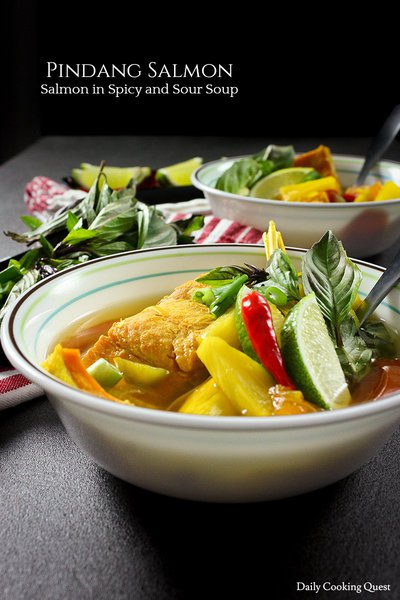 Pindang Salmon - Salmon in Spicy and Sour Soup