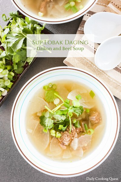 Sup Lobak Daging - Daikon and Beef Soup
