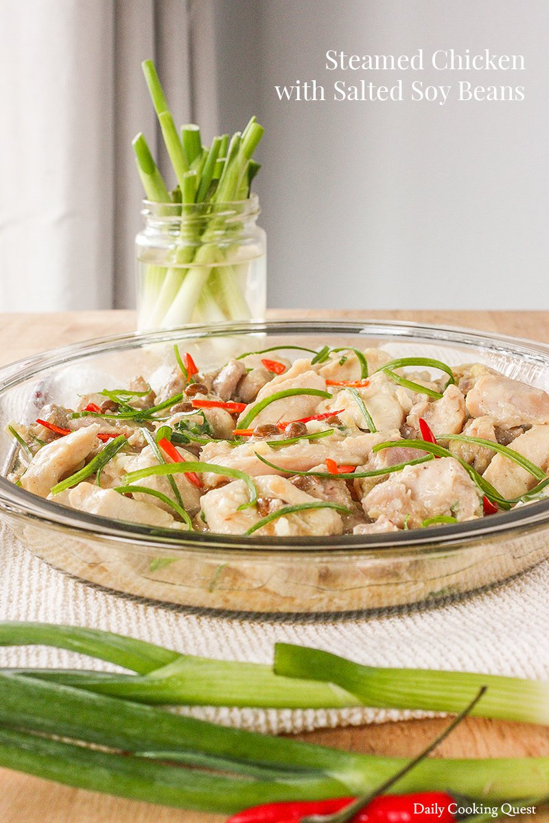 Steamed Chicken with Salted Soy Beans