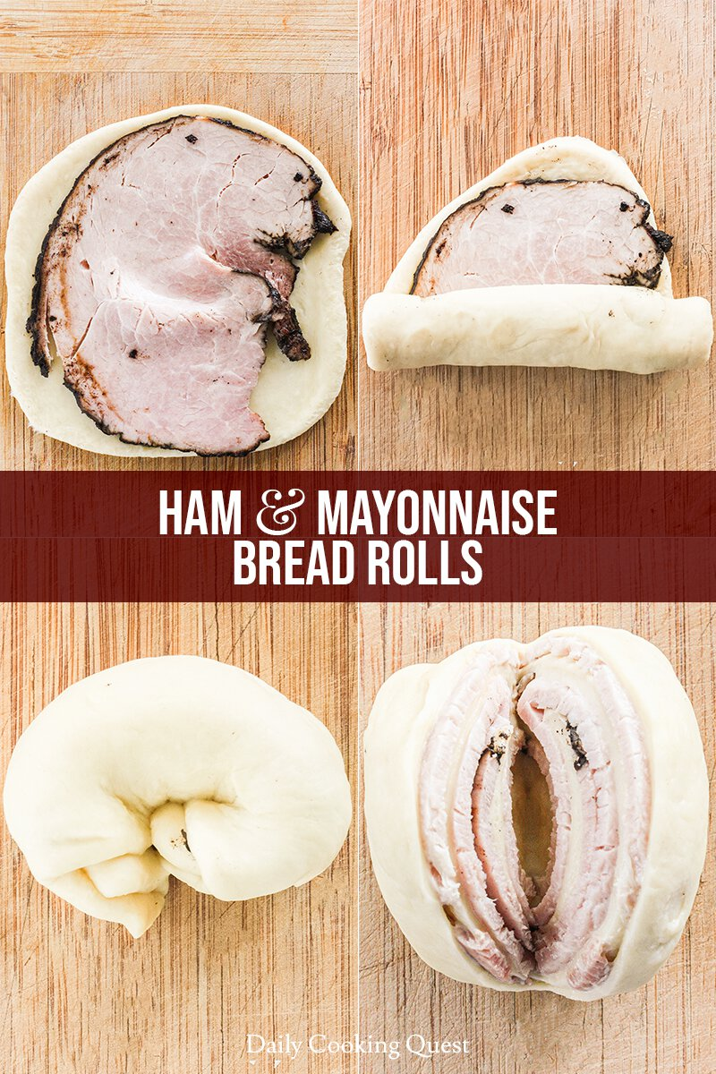 Step-By-Step Guide to Assemble Ham and Mayonnaise Bread Rolls