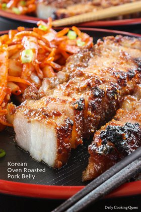 Korean Oven Roasted Pork Belly