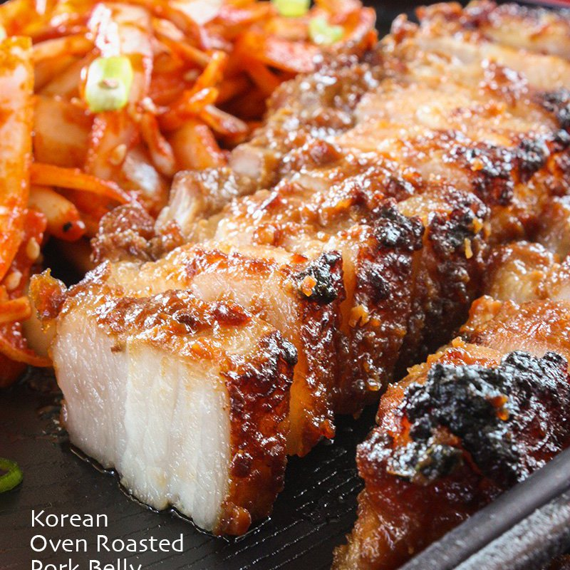 Korean Oven Roasted Pork Belly Recipe Daily Cooking Quest