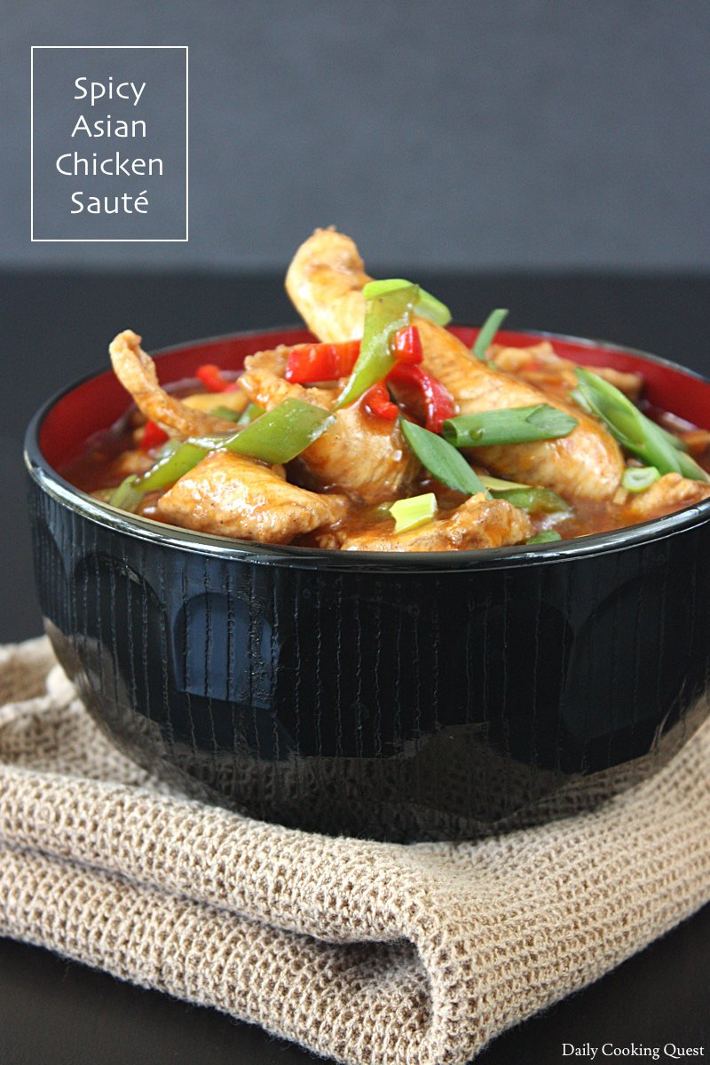 Spicy Asian Chicken Sauté