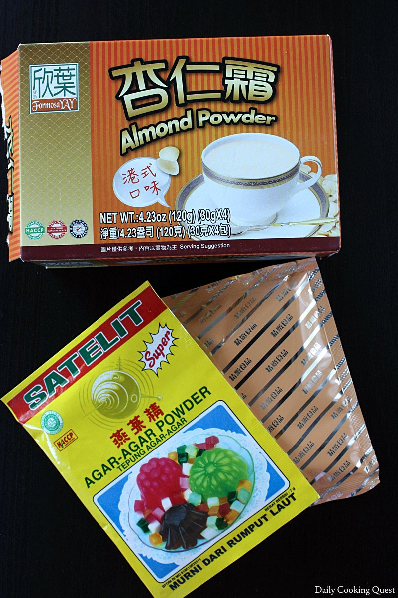 Ingredients for Almond Tofu